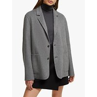 shop for French Connection Daralicia Knit Blazer, Grey Melange at Shopo