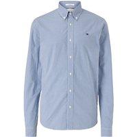 Scotch and Soda Gingham Check Cotton Poplin Shirt, Blue/White