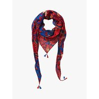 Betty Barclay Floral Print Scarf, Dark Blue/red