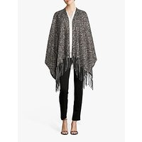 shop for Betty Barclay Animal Knitted Cape, Taupe/Black at Shopo