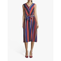 shop for Betty Barclay Striped Midi Dress, Blue/Red at Shopo