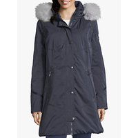shop for Betty Barclay Quilted Hooded Coat, Navy at Shopo