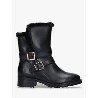 Carvela Comfort Roxi Buckle Detail Leather Ankle Boots, Black