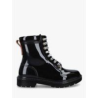 shop for See By Chloé PVC Combat Boots, Black at Shopo