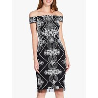 Image of Adrianna Papell Beaded Dress, Black