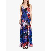 Image of Adrianna Papell Print Sequin Dress, Red