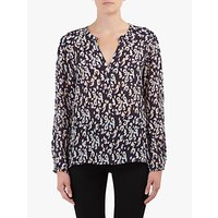 Pyrus Lucy Swirl Print Blouse, Navy