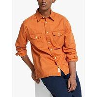 shop for John Lewis & Partners Cotton Twill Overshirt, Tangerine at Shopo