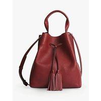 Gerard Darel Saxo Leather Shoulder Bag, Red