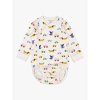 Polarn O. Pyret Baby Organic Cotton Game Bodysuit, Natural
