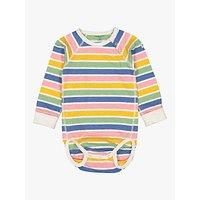 Polarn O. Pyret Baby Organic Cotton Candy Stripe Bodysuit, Multi