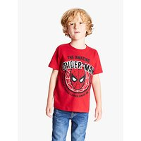 Spider-Man Boys Sequin Embellished T-Shirt, Bright Red