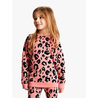 Scamp & Dude Children's Leopard Print Sweatshirt, Pink