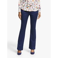 Boden Bath Bi-Stretch Flare Trousers, Navy