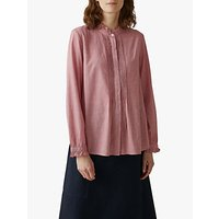 Toast Mini Dogtooth Cotton Shirt, Red/Kora