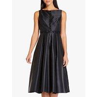 Image of Adrianna Papell Beaded Mikado Dress, Black