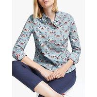 Boden Modern Classic Botanical Cotton Shirt, Horizon Nightingale