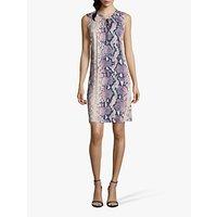 shop for Betty & Co. Python Print Dress, Blue/Beige at Shopo