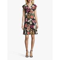 shop for Betty & Co. Floral Dress, Black/Purple at Shopo