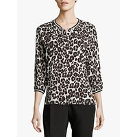shop for Betty & Co. Animal Print Top, Cream/Black at Shopo