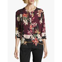 shop for Betty & Co. Floral Blouse, Purple/Black at Shopo