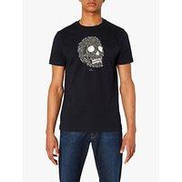 PS Paul Smith Zebra Skull Print T-Shirt, Black