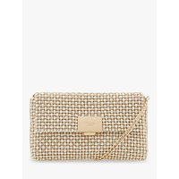 Dune Evanderr Diamante Embellished Clutch Bag, Metallic