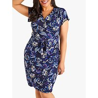 Yumi Curves Tropical Dress, Navy