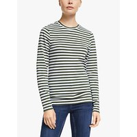 shop for John Lewis & Partners Long Sleeve Cotton Stretch Breton T-Shirt at Shopo