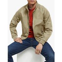 shop for John Lewis & Partners Wallace Shower Resistant Harrington Jacket, Stone at Shopo