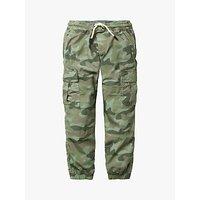 Mini Boden Boys Utility Cargo Trousers, Khaki Camouflage