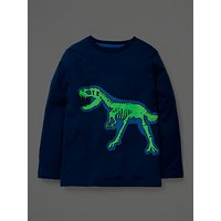 Mini Boden Boys Glow in the Dark Dinosaur T-Shirt, Navy