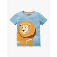Mini Boden Boys Big Animal Applique T-Shirt, Blue