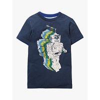 Mini Boden Boys Space Adventure Robot T-Shirt, College Blue Robot