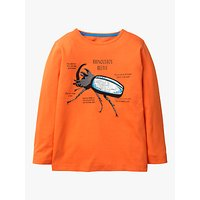 Mini Boden Boys Insect Facts T-Shirt, Orange