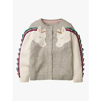Mini Boden Girls Fun Unicorn Cardigan, Grey
