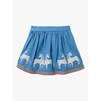 Mini Boden Girls Applique Hem Skirt, Blue