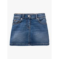 Mini Boden Girls Five Pocket Denim Skirt, Blue