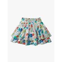 Mini Boden Girls Smocked Woven Skirt, Blue/Multi