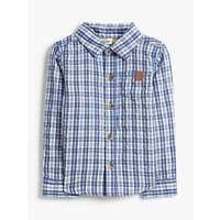 John Lewis and Partners Baby Cotton Check Shirt, Blue