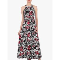 Jolie Moi Floral Halter Neck Maxi Dress, Black/Multi