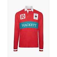 Hackett London Wales Cotton Rugby Shirt, Red