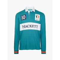 Hackett London Ireland Cotton Rugby Shirt, Green