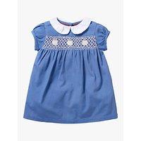 Mini Boden Baby Smock Dress, Elizabethan Blue
