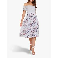 Chi Chi London Alia Bardot Dress, Lilac