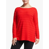 shop for Persona by Marina Rinaldi Stripe Jumper, Red at Shopo