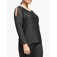 shop for Persona by Marina Rinaldi Sparkle Jumper, Black at Shopo