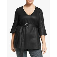 Persona by Marina Rinaldi Belted Tunic Top, Black