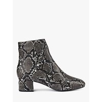 shop for SHOE THE BEAR Vicky Leather Snake Print Ankle Boots at Shopo