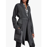 Lauren Ralph Lauren Bradyn Long Sleeve Cardigan, Grey/Multi